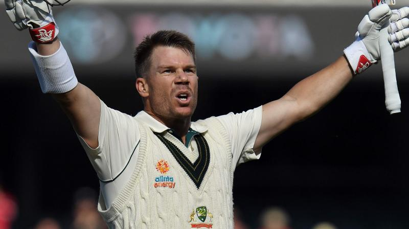 Opening batsman David Warner on Saturday became the 12th Australian cricketer to smash 7000 runs in the longest format of the game. (Photo:AFP)