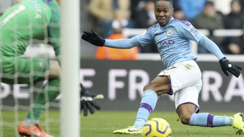 Raheem Sterling scored the opening goal of the match in the 22nd minute, handing Manchester City a 1-0 lead. (Photo:AP)