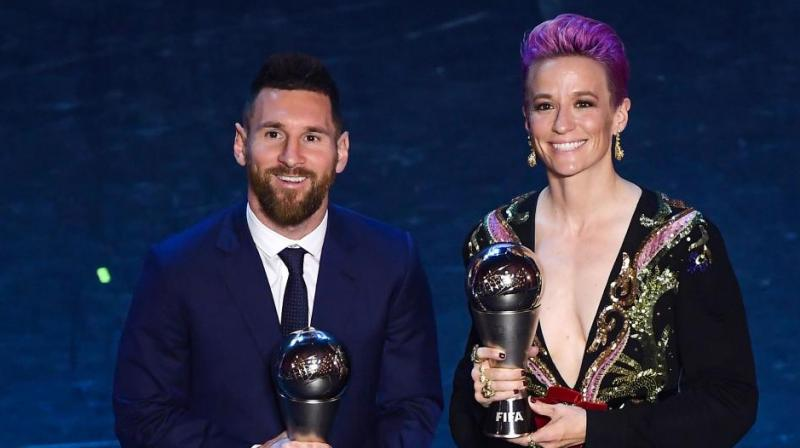 The biggest names in world football will descend on Paris on Monday for the 2019 Ballon d'Or ceremony, with Lionel Messi and USA women's World Cup superstar Megan Rapinoe tipped to leave with the honours. (Photo:AFP)