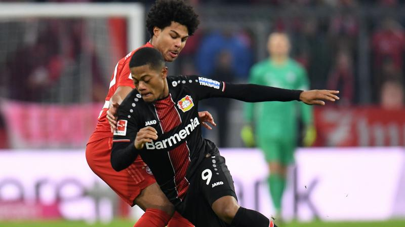 Jamaica international Leon Bailey scored twice to help Bayer Leverkusen earn a shock 2-1 victory at wasteful Bayern Munich on Saturday for the champions' first defeat under interim coach Hansi Flick. (Photo:AFP)