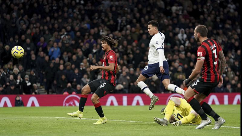 Jose Mourinho's dream start as Tottenham Hotspur manager continued as Dele Alli scored twice in a 3-2 victory at home to Bournemouth on Saturday — a third successive win for the Portuguese since replacing Mauricio Pochettino. (Photo:AP)