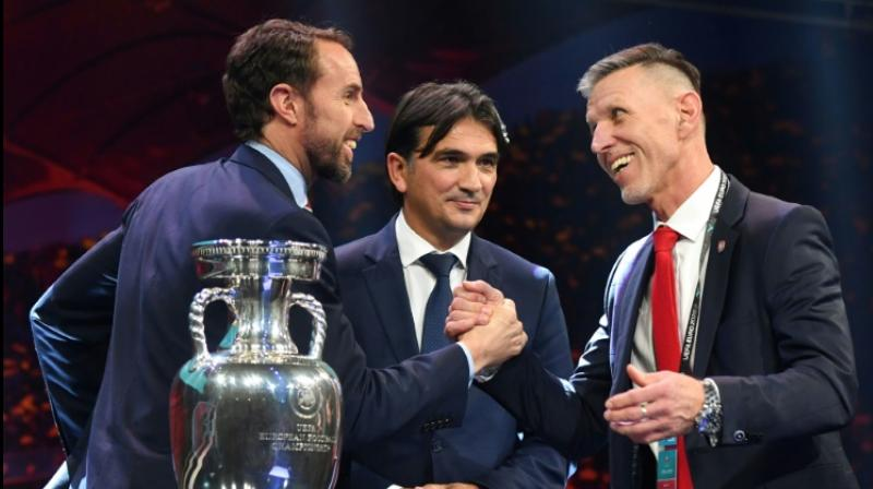 England manager Gareth Southgate waved away suggestions Croatia will be afraid of playing his team at Wembley in their opening game at Euro 2020 after they came out in the same group at Saturday's draw in Bucharest. (Photo:AFP)