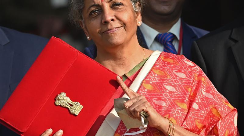 Ms Sitharaman has announced a huge capital expenditure outlay across sectors from health to infrastructure, and even to the financial sector, by setting up a Developmental Financial Institution with a capitalisation of Rs 20,000 crores. ((Sajjad HUSSAIN / AFP)