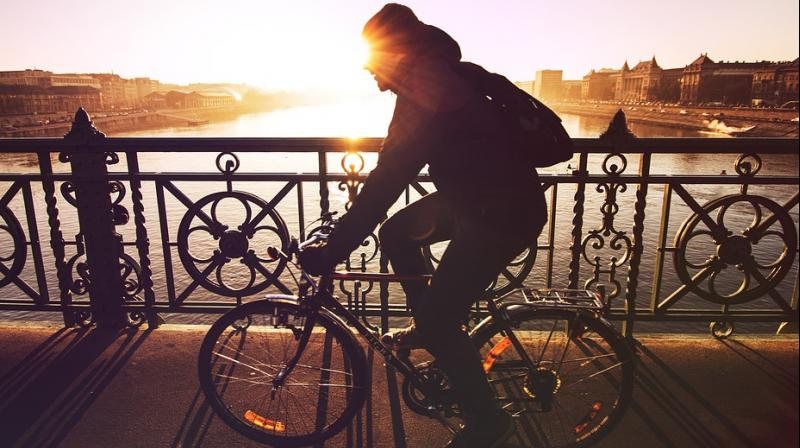 A picture Jaber posted of herself cycling alongside an old man riding his own bicycle and staring at her in reproving disbelief made the rounds on Iraqi social media last year. (Photo: Pixabay/ Representtaional Image)