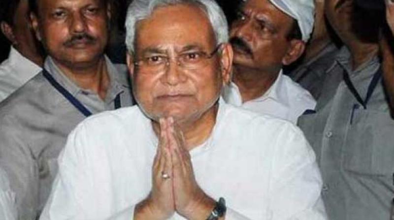 Bihar Chief Minister Nitish Kumar. (Photo: Twitter | ANI)