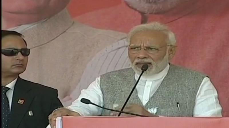 The prime minister's comments came in the wake of Congress president Rahul Gandhi accusing BJP of