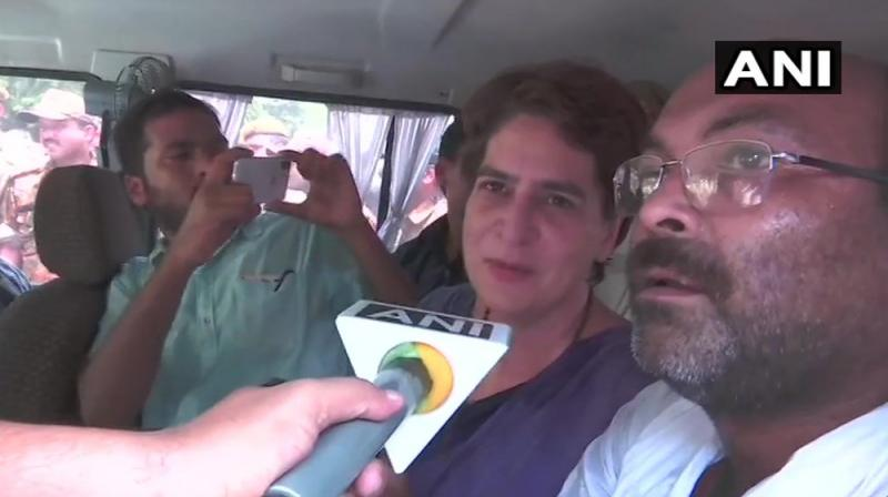 Congress general secretary Priyanka Gandhi Vadra welcomed Chief Minister Yogi Aditynath's visit on Sunday to Ubbha village in UP's Sonbhadra where 10 people were gunned down over a land dispute. (Photo: File)