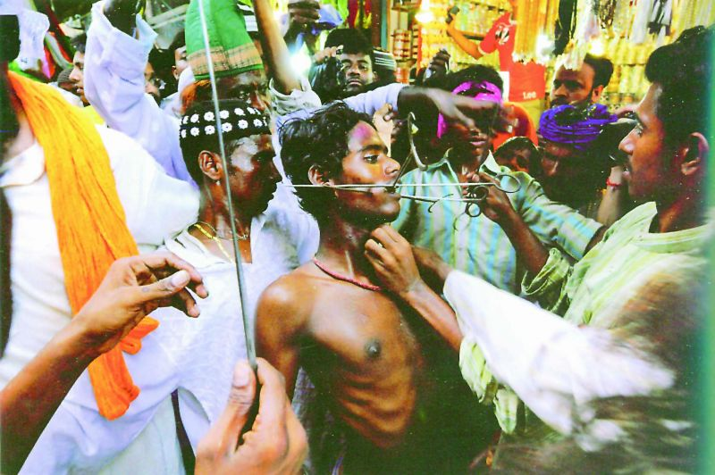 A self-mortification ritual of the Rifa'i fakirs, a lineage known for extreme practices. Very few Sufis engage in such rites