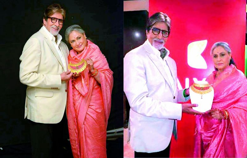 Amitabh and Jaya Bachchan promote  a jewellery brand
