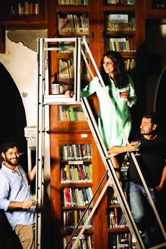 Sakshi Saigal  (center) with co-partners  Rahul Mehra and Vidur Gupta.