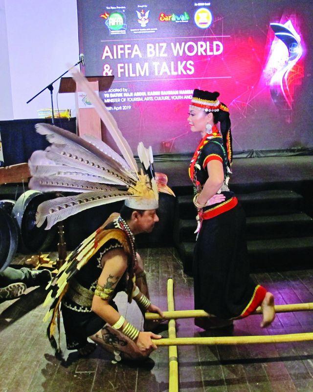 A dance troupe performs at AIFFA.