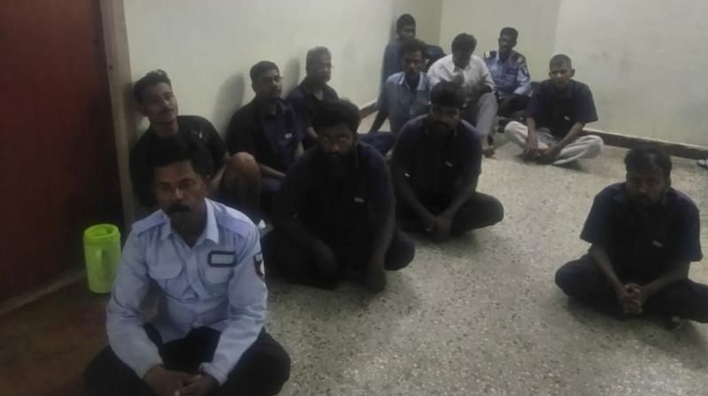 18 men held for allegedly sexually harassing an 11-year-old girl for over a period of 7 months in Chennai. The accused involve security men, lift operator and water suppliers in the apartment where the minor girl stays. (Photo: ANI | Twitter)
