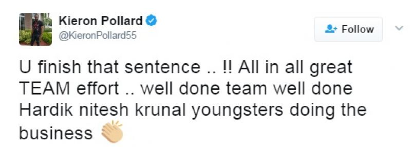 Kieron Pollard, Sanjay Manjrekar, Twitter, IPL 2017, Mumbai Indians vs Kolkata Knight Riders