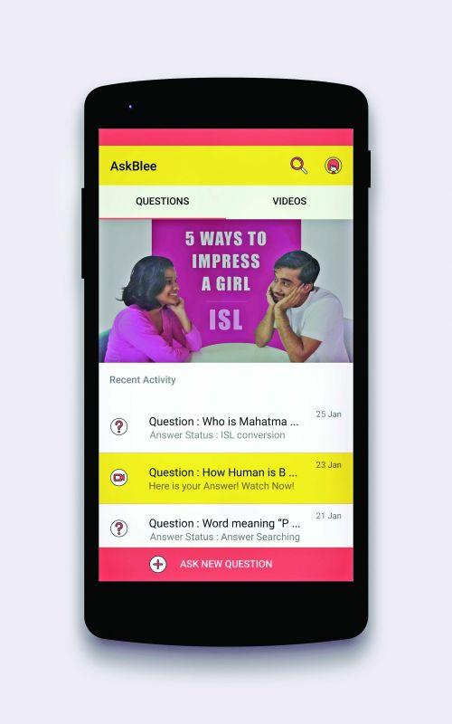 A screenshot of the app AskBlee