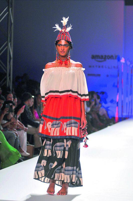 "Designer Anupama Dayal's Naga  inspired collection, ""Fight & Feast"""