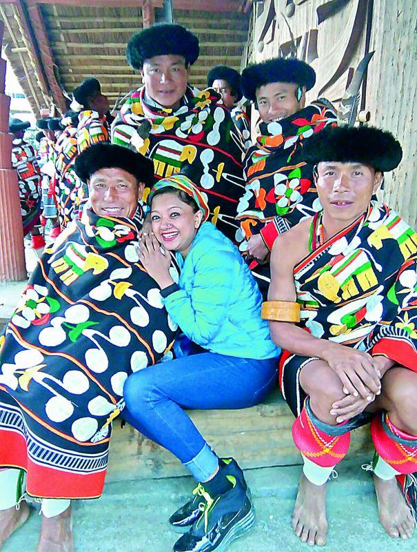 Designer Anupama Dayal enjoying her downtime with a tribal community of Nagaland