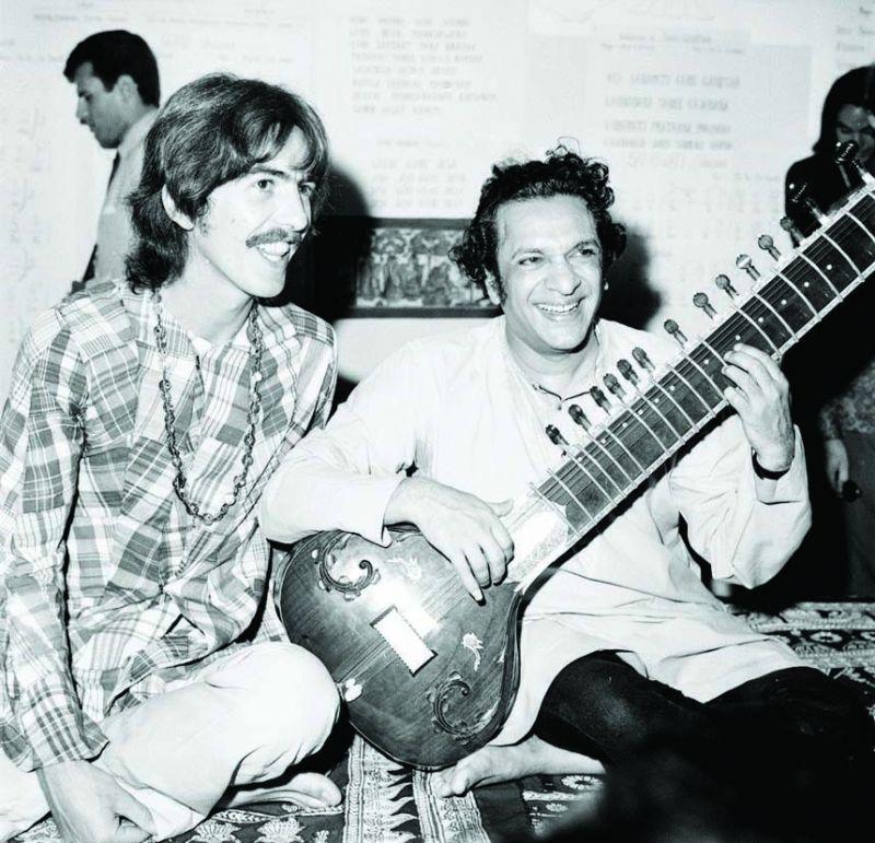 George Harrison with Pt Ravi Shankar
