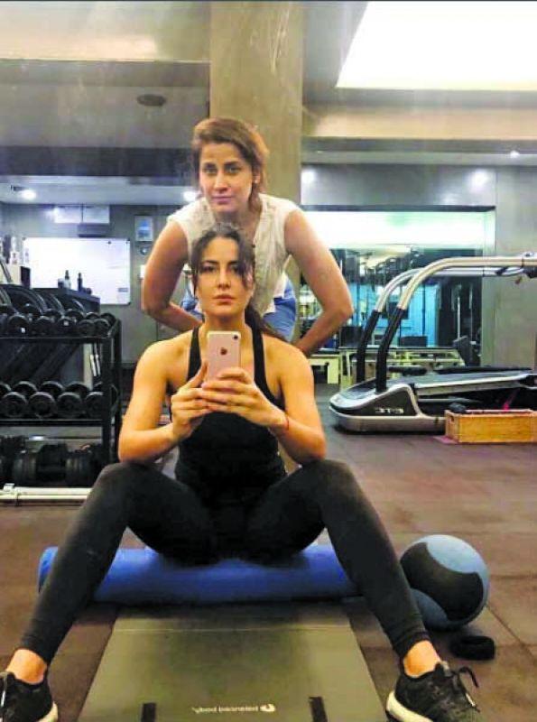 Yasmin Karachiwala during a session with Bollywood actor Katrina Kaif — Instagram