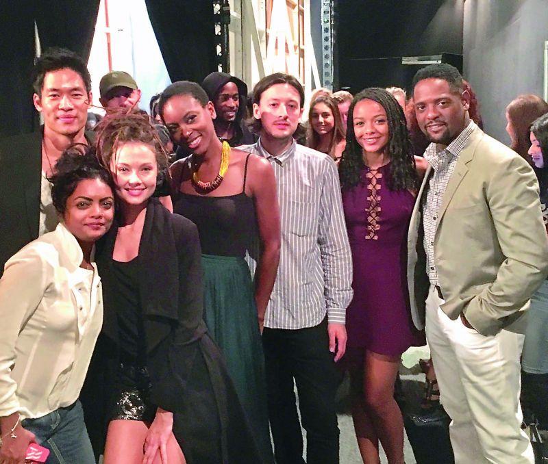 Designer Runa Ray with the cast of Quantico in New York