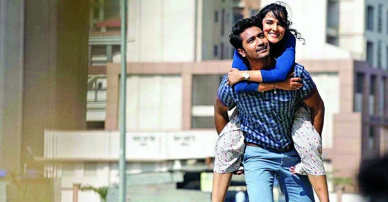 Vicky Kaushal and Angira Dhar in the Netflix original romantic comedy Love Per Square Foot that talks about the woes of expensive housing in Mumbai