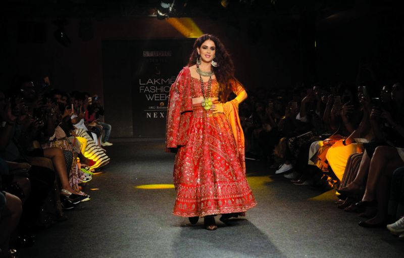 Genelia Deshmukh in a Saroj Jalan outfit