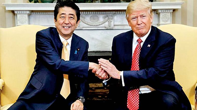 Shinzo Abe with Donald Trump. (Photo: AP)