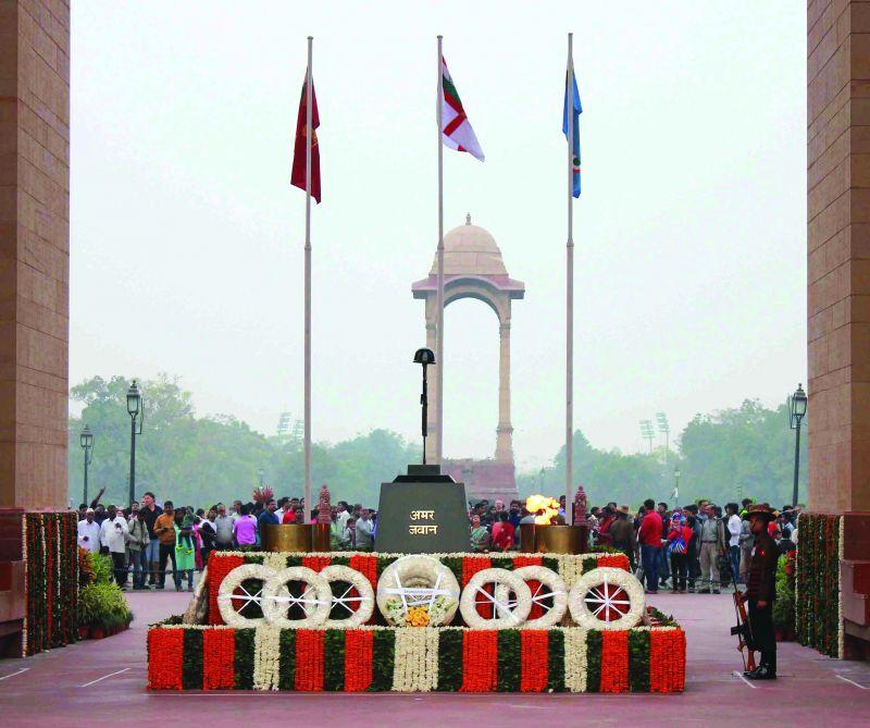 Amar Jawan Jyoti at India Gate.