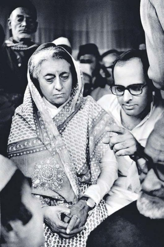 1977: Indira Gandhi at  a politcal rally in Amethi— All images by Raghu Rai