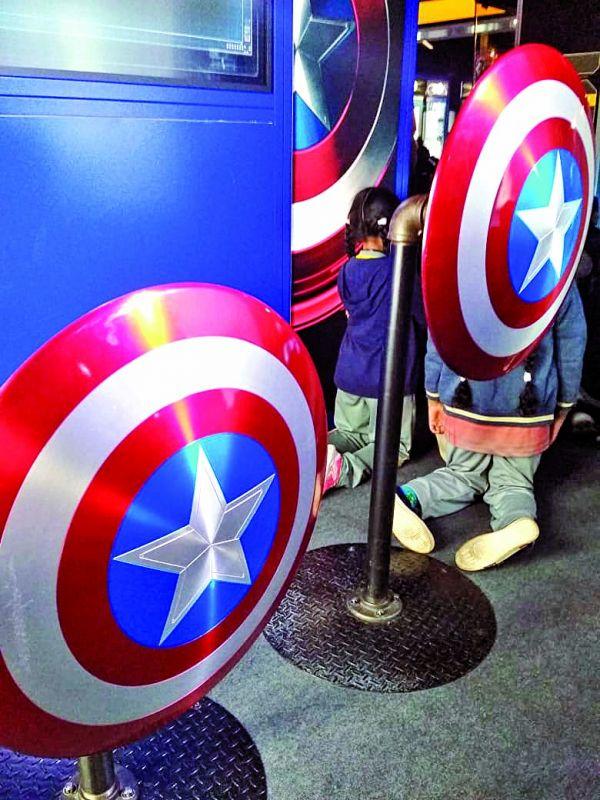 The Captain America shield