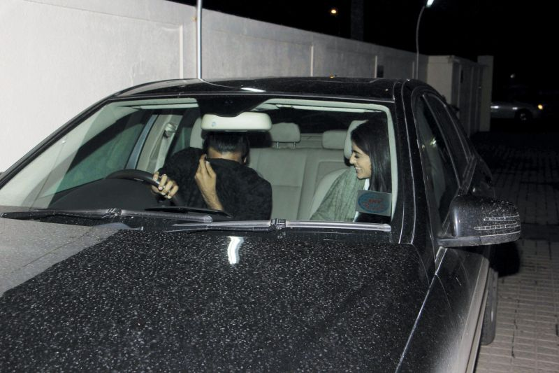 Monday night saw Amitabh Bachchan's granddaughter Navya Naveli Nanda, daughter of Shweta Bachchan, out on a movie date with her alleged boyfriend. (Photo: Viral Bhayani)