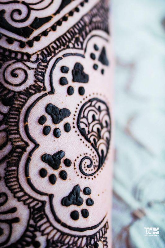 Mitali's mehendi had paw prints