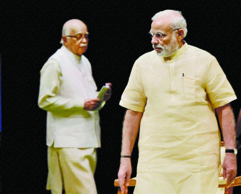Lal Krishna Advani and Prime Minister Narendra Modi