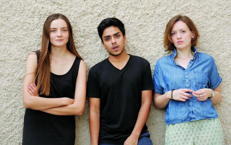 Portia van de Braam, Adarsh Gourav and Lucy Briggs-Owen