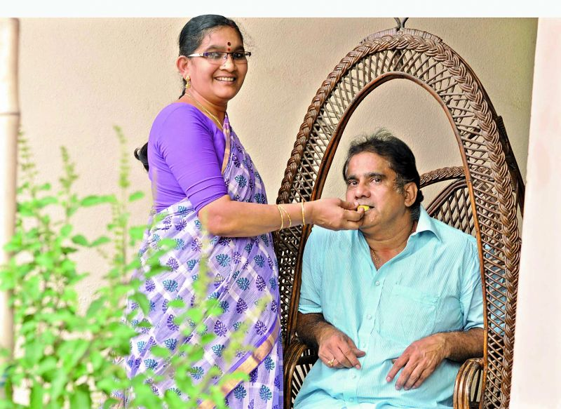 K. Radha Mukunda and Kidambi Krishna,  Srikanth's parents