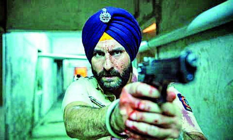 Saif Ali Khan as police officer Sartaj Singh in the Netflix originals Sacred Games