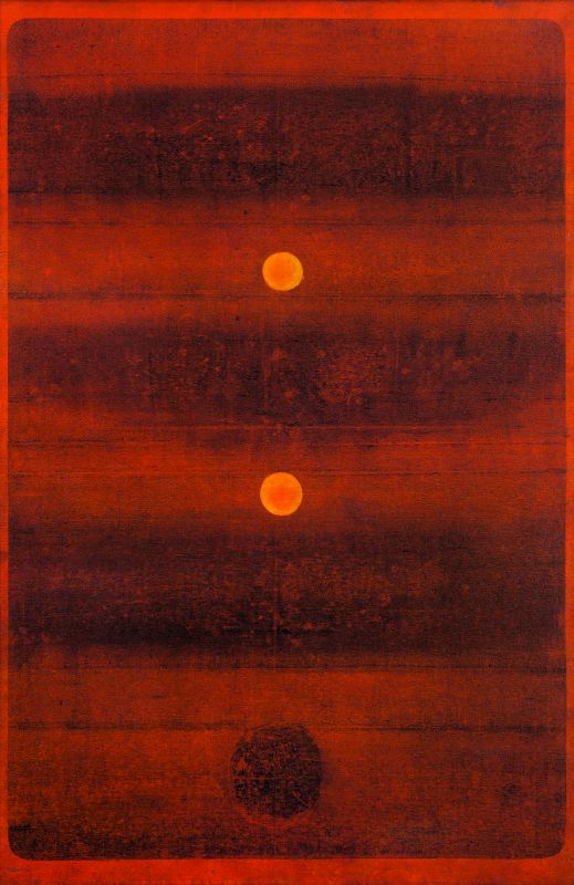 V. S. Gaitonde's untitled work which was sold for Rs 25.2 crore at the auction held on Tuesday evening.