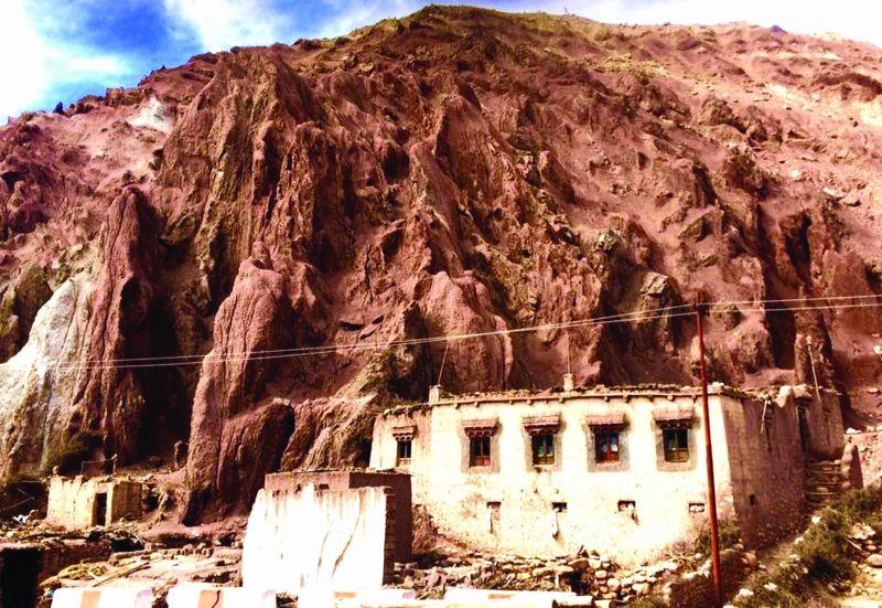 Rocky outcrop of Ladakh