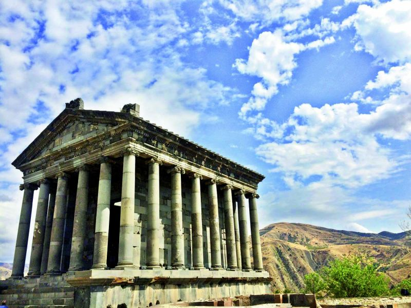 Built in the first century, Garni was likely a shrine to the pagan sun god Mihr