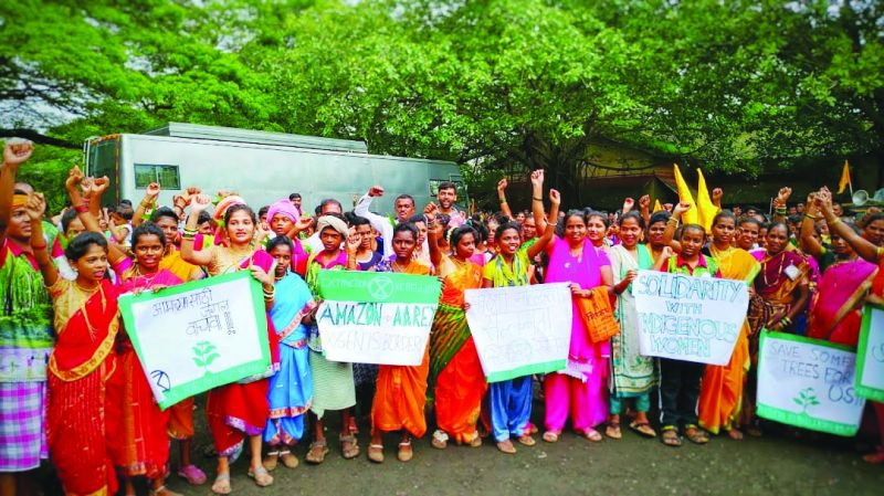 Aarey tribal march on International Day of the World's Indigenous Peoples.