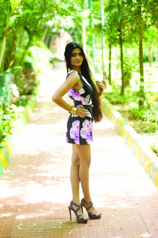 Vasundhara Agarwal rocks this floral bodycon dress.