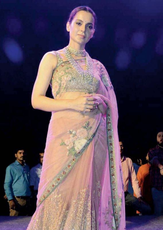 Kangana at a launch event for Manikanika.