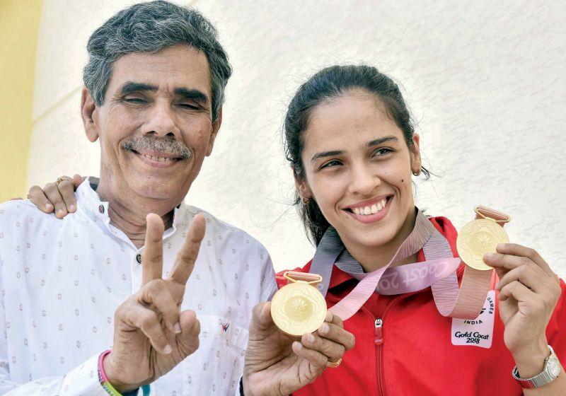 Saina and Harvir Singh Nehwal