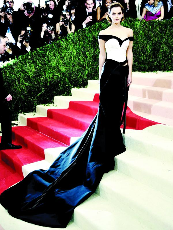 Emma Watson sported an  eco-friendly gown at the Met Ball