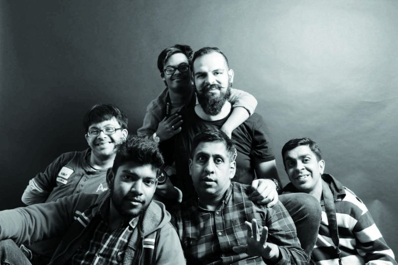 Mohit with differently-abled students