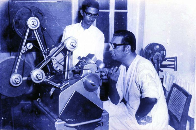 Satyajit Ray at work