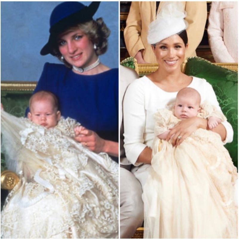 Historical Tributes In Archie's Christening Photos