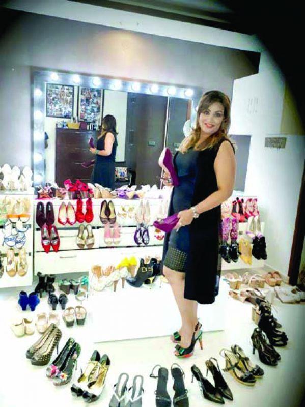Charumathi GR showcases her proud shoe fetish