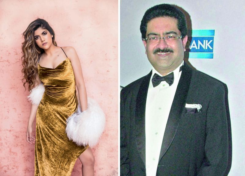 (Left) Ananyashree Birla and her father Kumar Mangalam Birla.