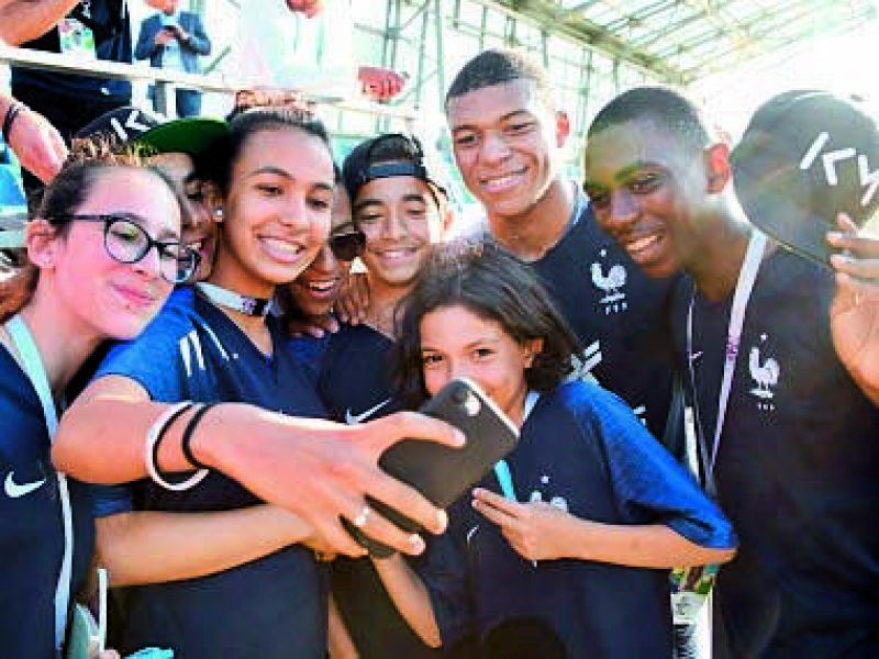 Kylian Mbappé had sponsored the trip of several youngsters from Bondy to Russia to watch the World Cup.