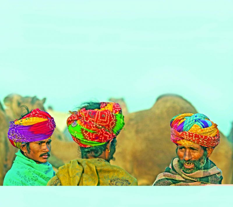 At the Pushkar camel fair
